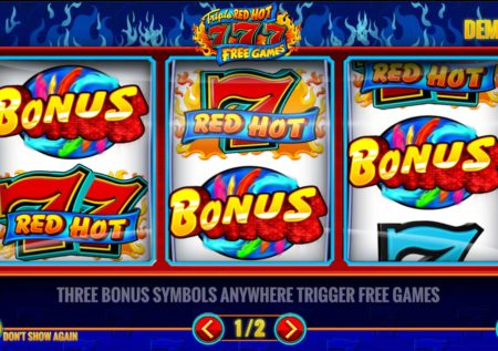 Triple Red Hot 777 Slot Review
